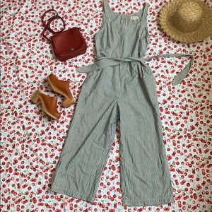 Madewell Striped Jumpsuit Size 12